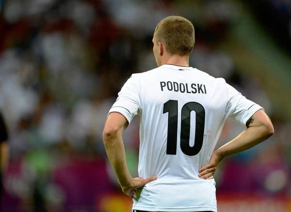 Lukas Podolski spielte von Anfang an, blieb aber wirkungslos und musste nach der Pause seinen Platz f�r Marco Reus r�umen.