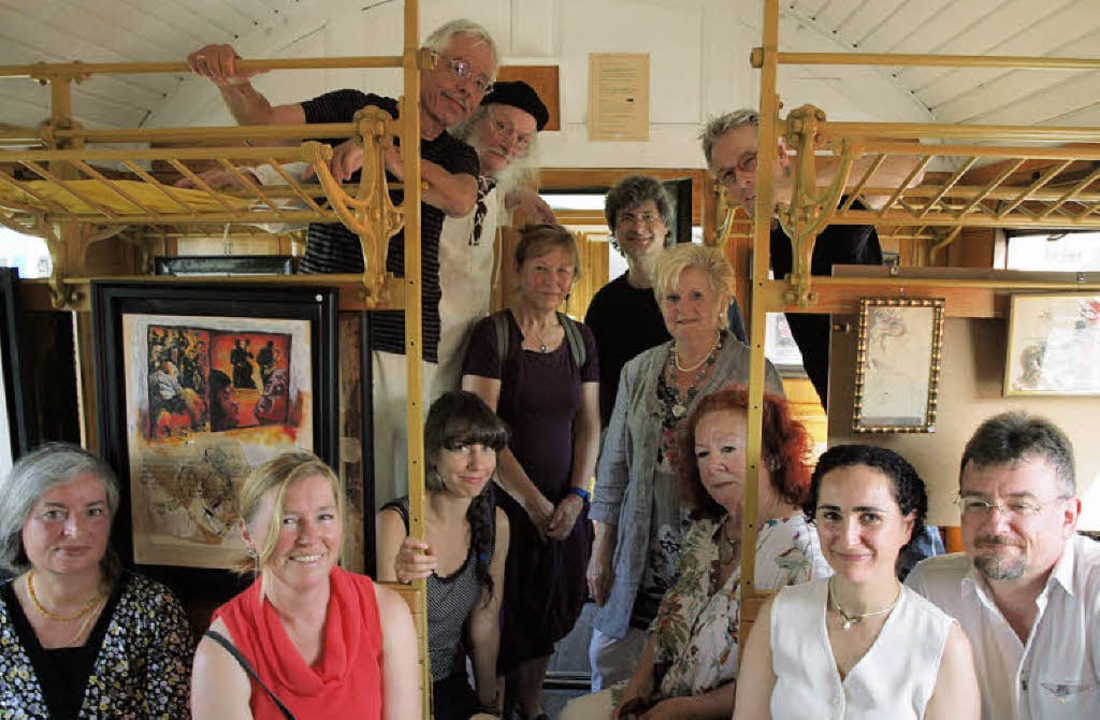Die Akteure der Künstlertage: von link...m. Nicht im Bild: Hans-Peter Ziesmer.   | Foto: Michael Haberer