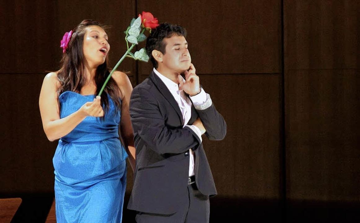 Erstmals auf der Bühne: Freiburger Gesangsstudenten    | Foto: BZ