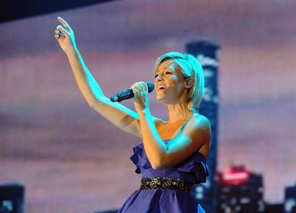 Der musikalische Stargast, die S�ngerin Helene Fischer.