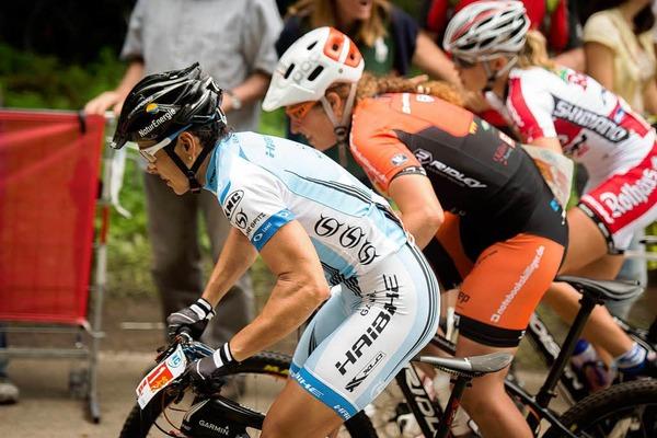 Sabine Spitz beim Start