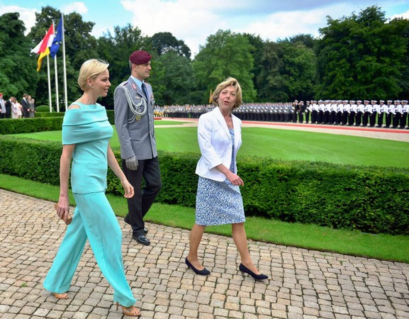 Albert und Charlène von Monaco besuchen Berlin.
