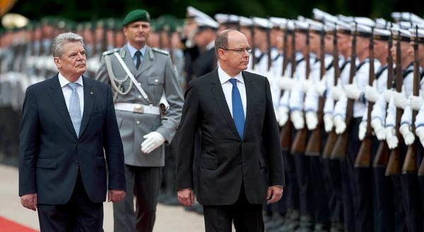 Gauck und Albert zogen sich anschließend zu einem rund einstündigen Gespräch zurück.