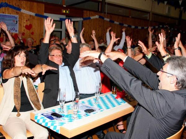 Beim Fetbankett der SpVgg wurden sogar die Ehrengäste zu Feierbiestern.