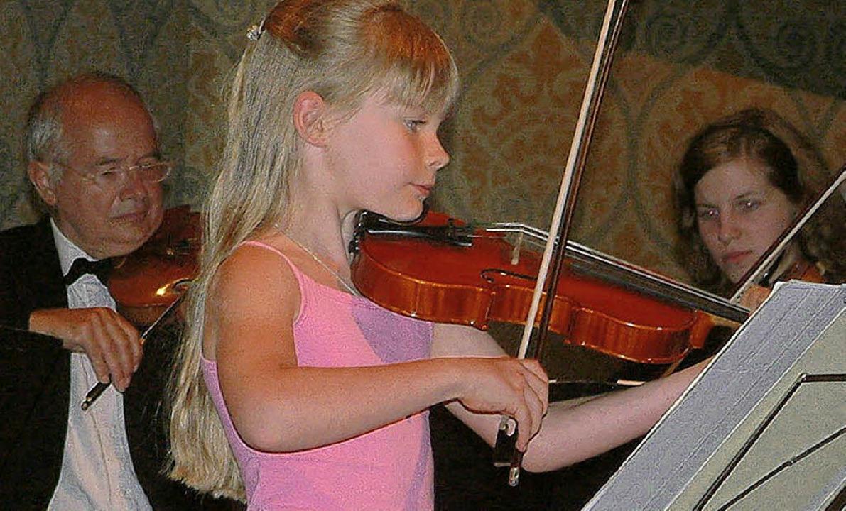 Sophie Bühler spielte wie ein alter Hase.     Foto: Roswitha Frey