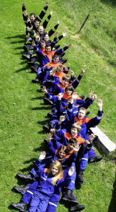 Eine tolle Gruppe: die Jugendfeuerwehr Elzach.     Foto: ZVG