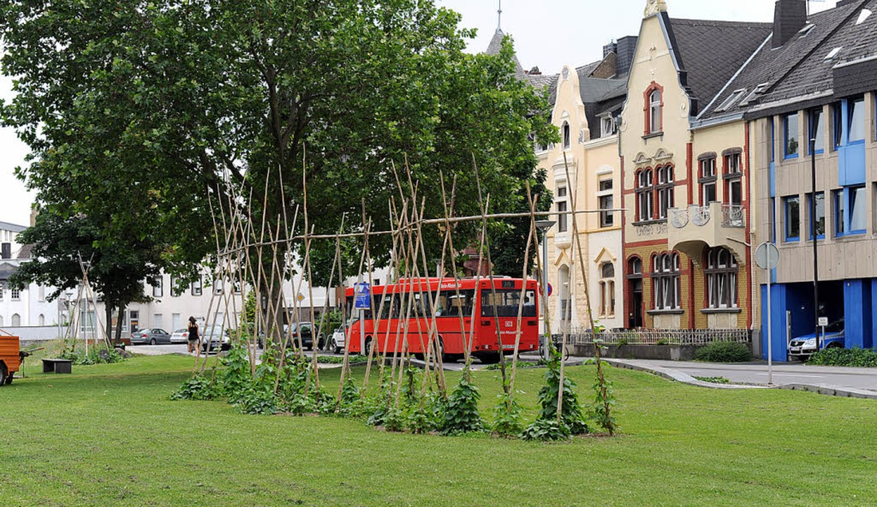 Stangenbohnen im Stadtpark: In Andernach gedeiht neues Denken
