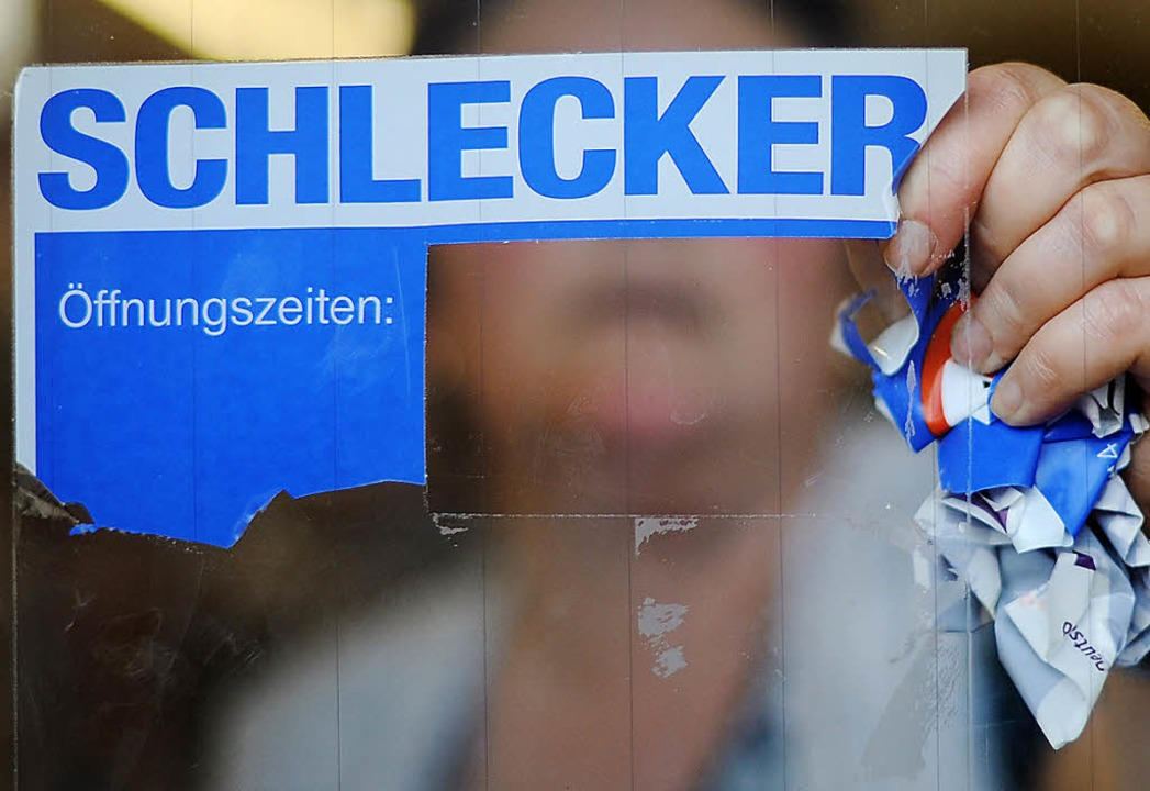 Die letzten Schlecker-Filialen schlossen Ende  Juni.   | Foto: dpa/dapd