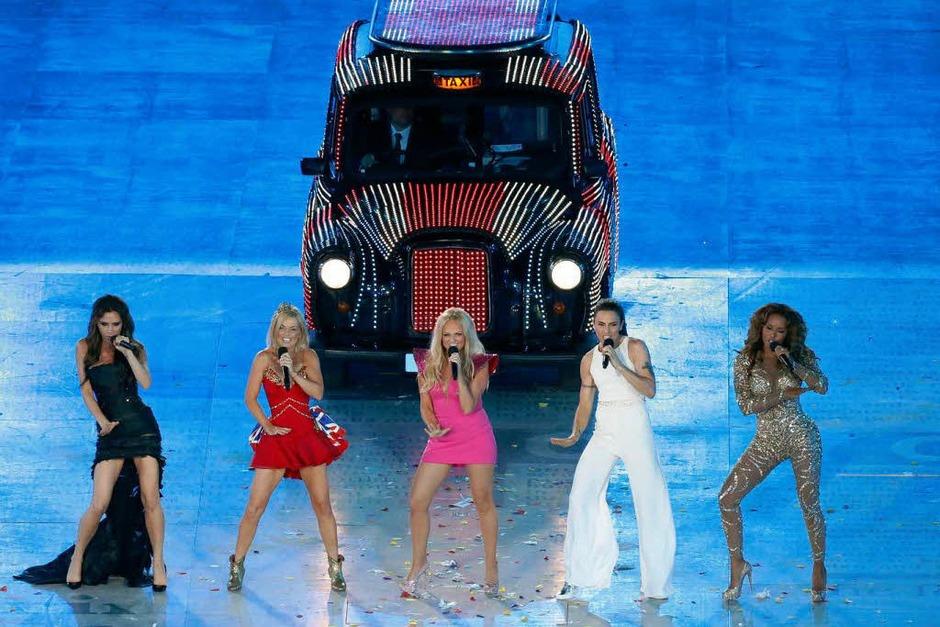 Die Wiedervereinten Spice Girls. (Foto: dpa)