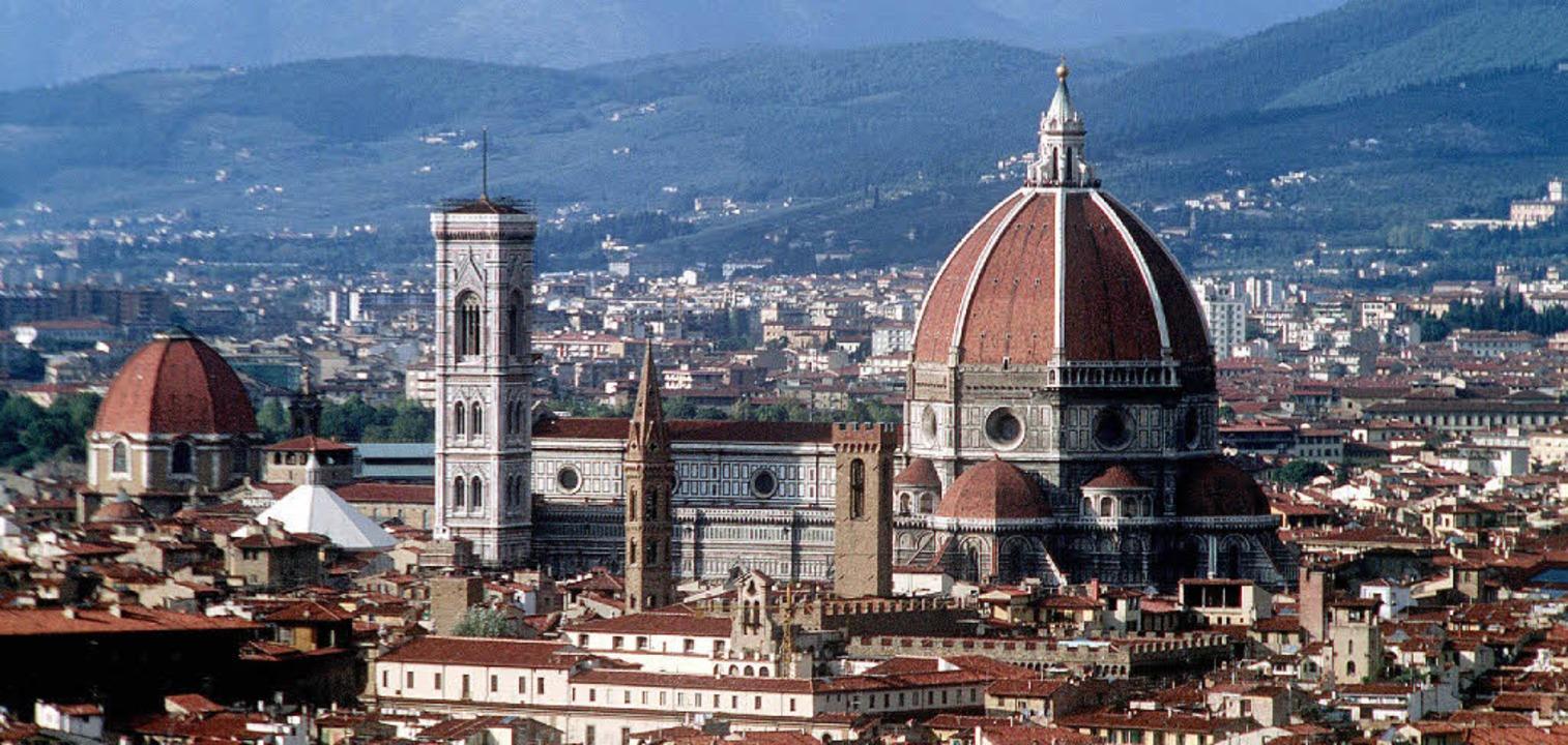 Wiege des Humanismus: Florenz. Dort wu...5. Jahrhundert wieder Lukrez gelesen.   | Foto: dpa/Wikipedia