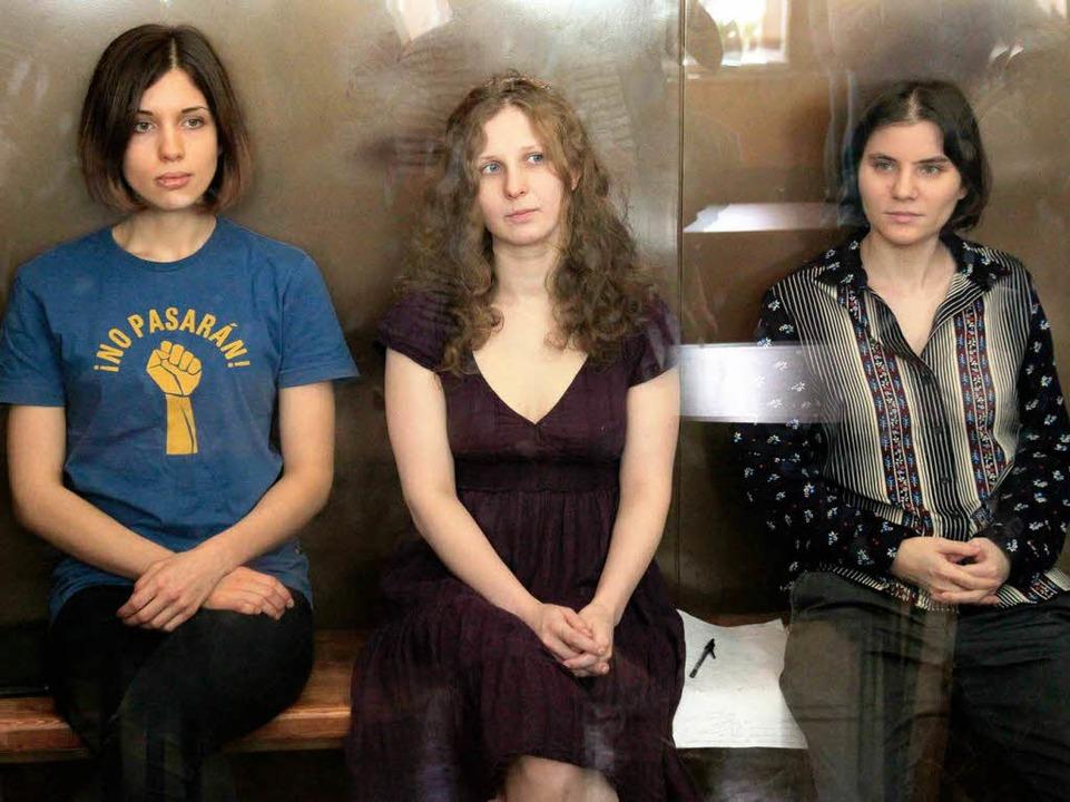 Die Künstlerinnen vor Gericht.  | Foto: dpa