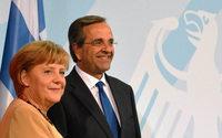 Merkel und Samaras: Viel Freundlichkeit, eine Demutsgeste