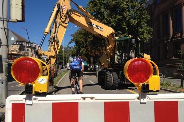 Der Freiburger Rotteckring ist gesperrt – Keine Durchfahrt für Autos