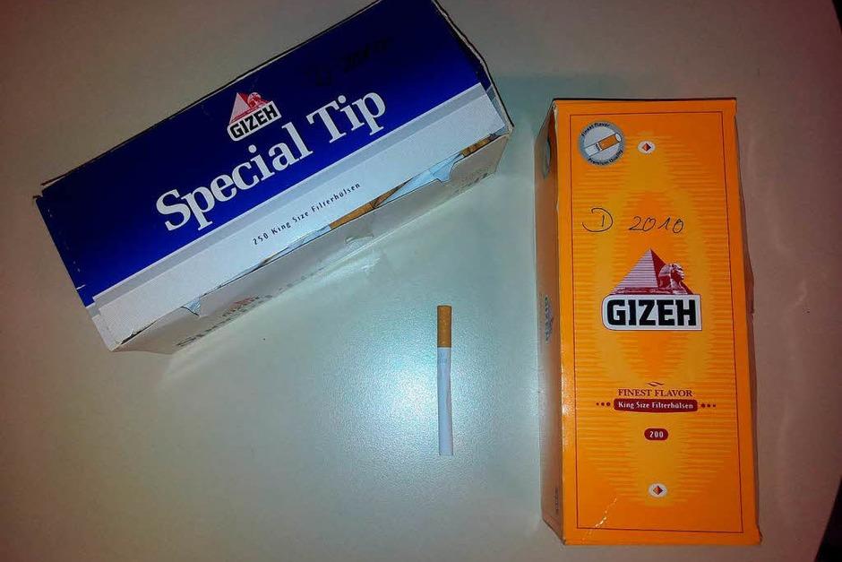 Die Polizei sucht einen Mann, der sich am 12. oder am 13. Mai 2010 im Innenhof des Kloster Neresheim in der Nähe des dort abgestellten Entführungsfahrzeugs aufhielt. Er rauchte dabei mehrere selbst hergestellte Zigaretten, für die er Hülsen der Marke Gizeh verwendete. (Foto: Polizei)