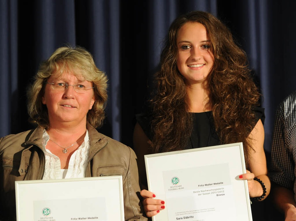 Sara Däbbritz wurde mit der Medaille in Bronze geehrt.
