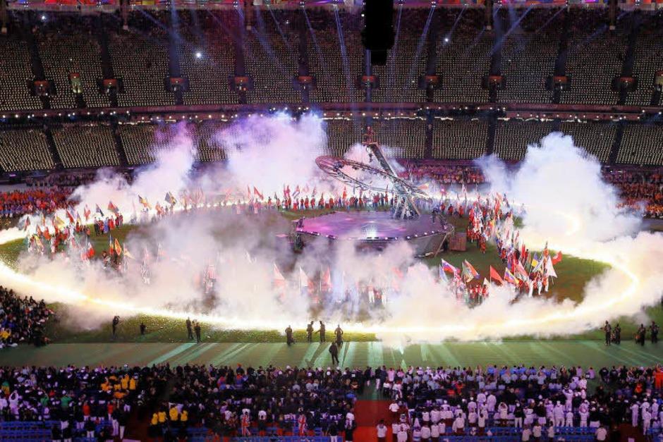 Mit einer rauschenden Schlussfeier sind die 14. Paralympics in London zu Ende gegangen. (Foto: dapd)
