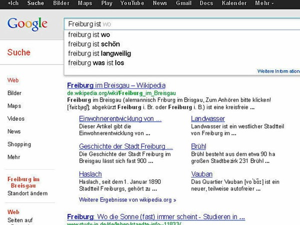 Ernüchternd: Viele Google-Nutzer wissen nicht mal, wo Freiburg liegt - und ob die Stadt eine Reise wert ist.