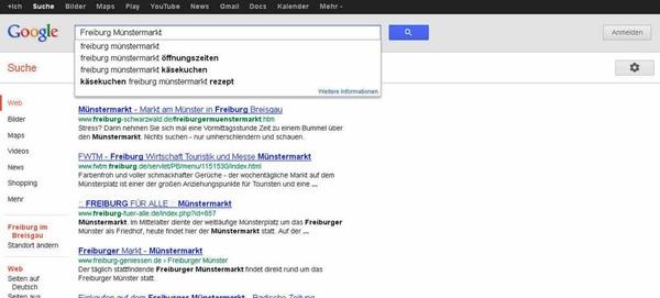 Liebe Beschicker des Münstermarkts - nur die Ruhe: Dass alle nach Stefans Käsekuchenstand suchen, kann auch bedeuten, dass  die Google-Nutzer wissen, wo sie euch finden.