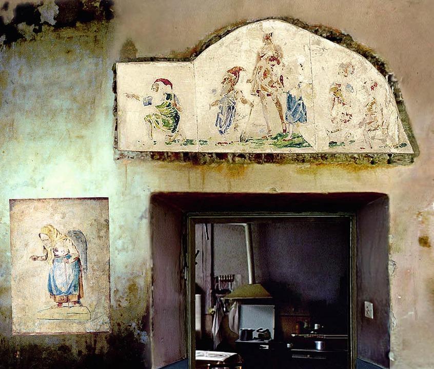 Virtuell rekonstruiert: Wand von Bruno Schulz' Bilderkammer   | Foto: Benjamin Geissl