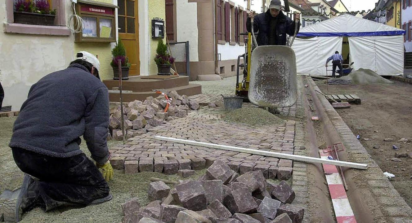 Das Ettenheimer Pflaster – hier ...ber nicht mit Kinderarbeit produziert.  | Foto: ARCHIVFOTO: REIN