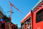 Fotos: Wohnhausbrand in Lörrach – neun Verletzte