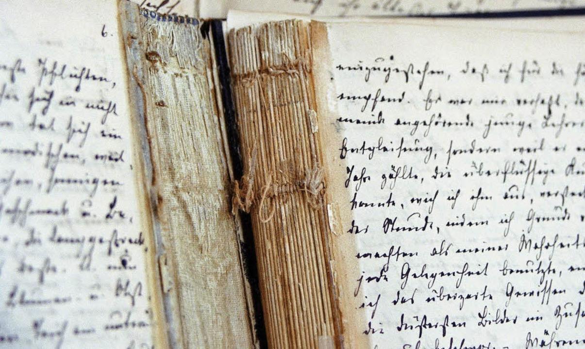 Wertvolle Bestände aus dem Tagebucharc...des Alten Rathauses eingerichtet wird.    Foto: Tagebucharchiv