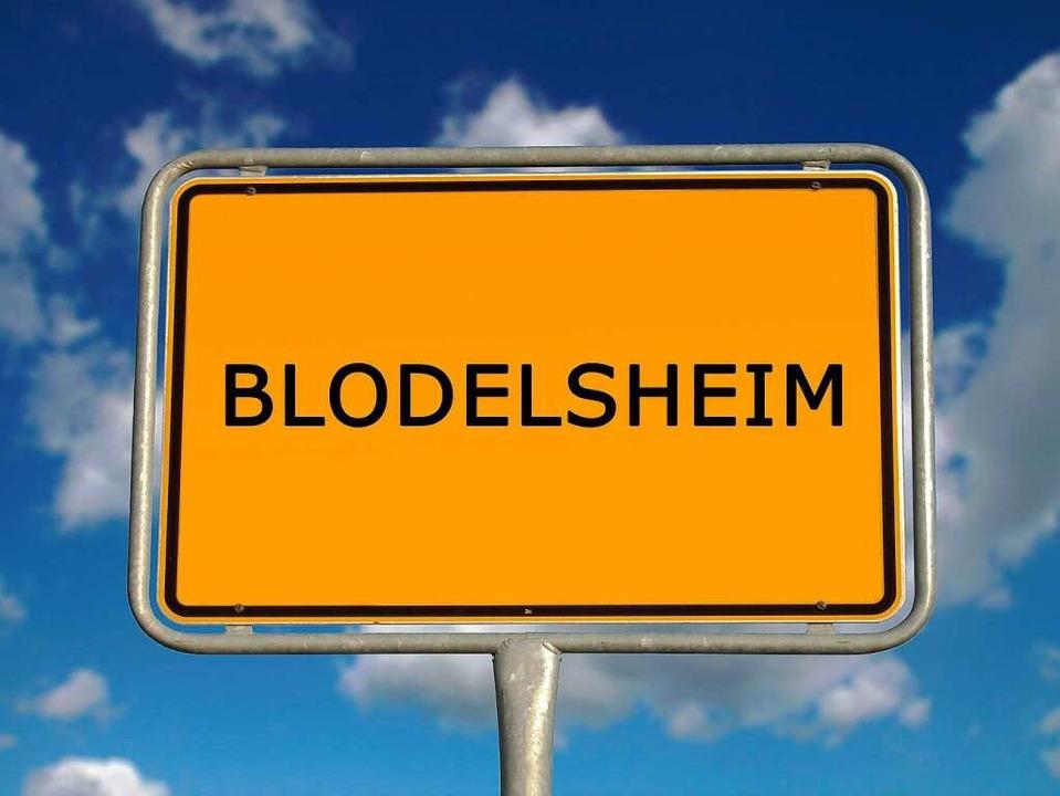 Das echte Blodelsheim hat freilich kei...: Warum heißt Blodelsheim Blodelsheim?  | Foto: BZ/cmfotoworks, fotolia.com
