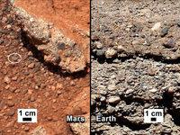 Curiosity findet Flusskiesel auf dem Mars