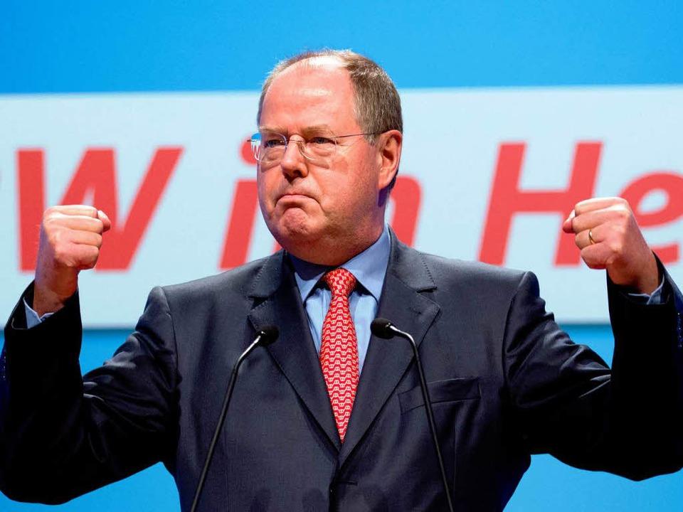 Peer Steinbrück ist ganz offensichtloch bereits in Wahlkampf-Stimmung.  | Foto: dpa