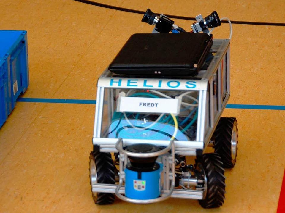 Fahrzeug beim 3. Sick-Robot-Day im Jahre 2010 in Waldkirch.  | Foto: Sylvia Timm