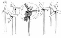 Neue Kombination aus Windkraft und Biomasse. . .