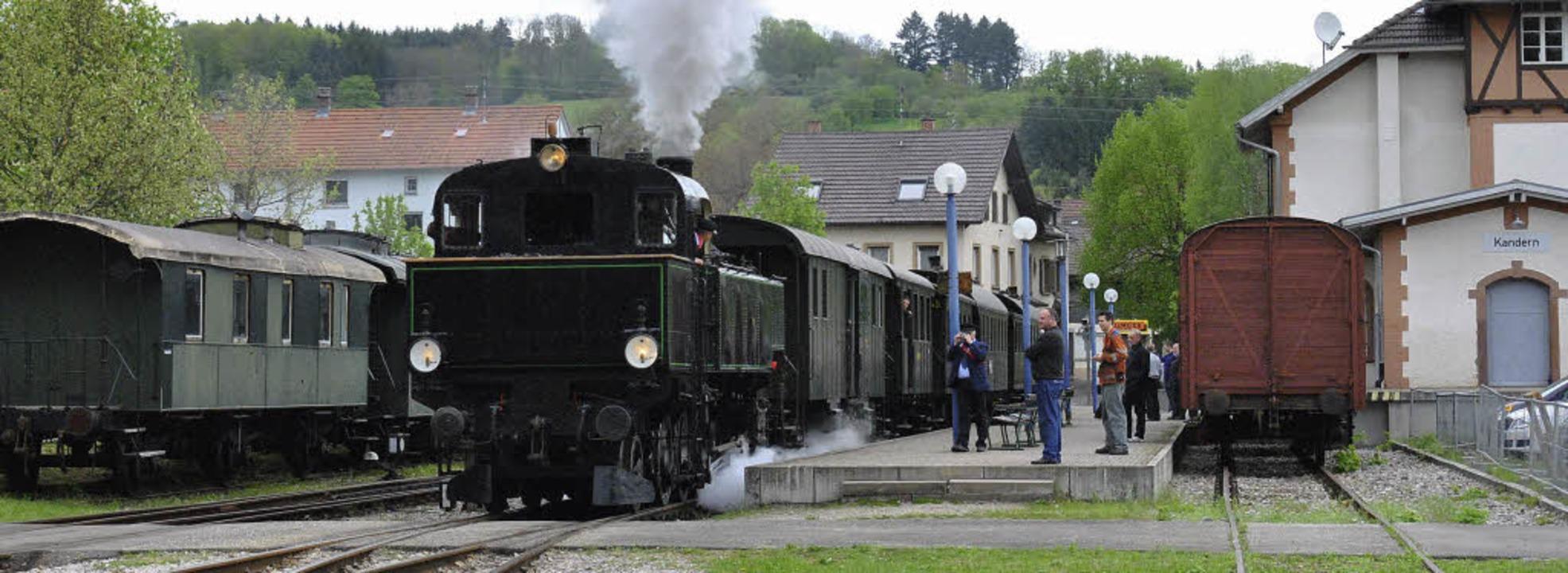Der Anschluss Kanderns ans Regio-S-Bah...der Pläne einer Umfahrung Rümmingens.     Foto: SEDLAK
