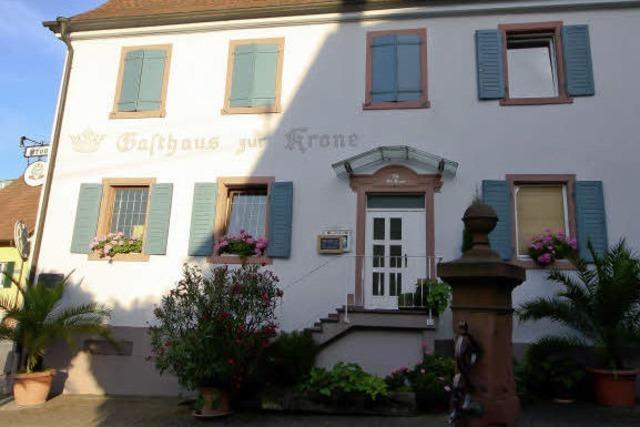 Das Gasthaus Krone Bombach in Kenzingen-Bombach