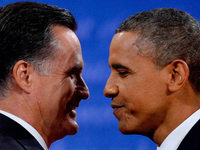 Obama punktet in TV-Debatte - Romney h�lt sich zur�ck