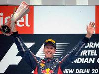 Sebastian Vettel siegt beim Gro�en Preis von Indien