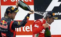 Vettel macht Alonso nass