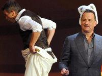 """""""Wetten, dass..?"""": Tom Hanks l�stert �ber seinen Auftritt mit Hasenohren"""