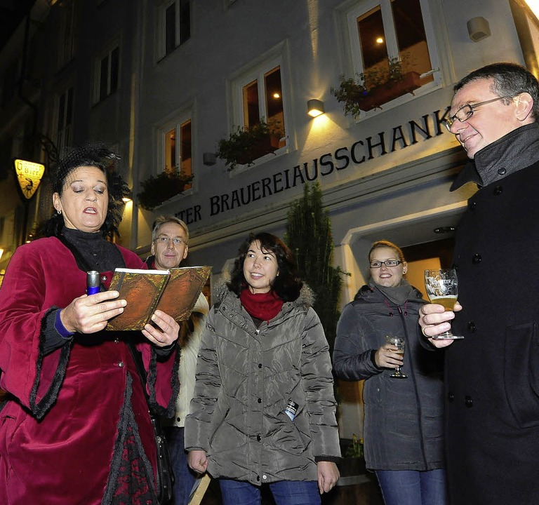 Mit Gabriele Zink (links) auf den Spuren der Freiburger Brauereien  | Foto: thomas kunz