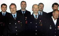 Feuerwehr ehrt viele Mitglieder