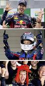 Sebastian Vettel ist in Feierlaune