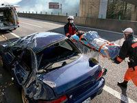 Decke eines Autobahntunnels st�rzt ein – neun Tote