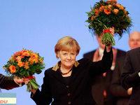 Merkel mit Rekordergebnis als CDU-Vorsitzenden wiedergewählt