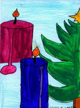 Weihnachtskarte von Vanessa Bayer.