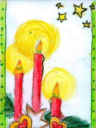 Weihnachtskarte von Sophie Zähringer.