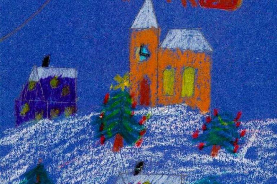 Weihnachtskarte von Robin Kaiser. (Foto: Privat)