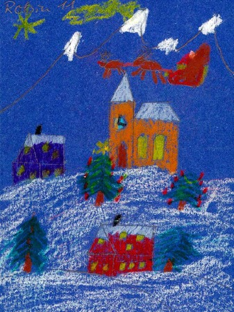Weihnachtskarte von Robin Kaiser.