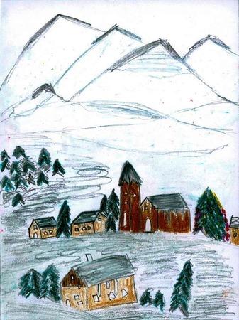 Weihnachtskarte von Paul Brosi