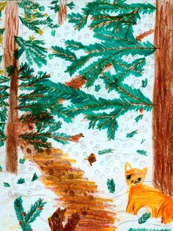 Weihnachtskarte von Fanny Liesum