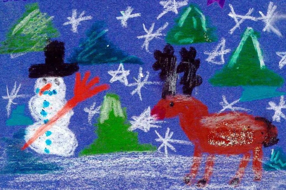 Weihnachtskarte  von Svenja Geil. (Foto: Privat)