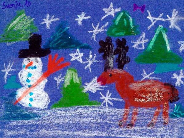 Weihnachtskarte  von Svenja Geil.